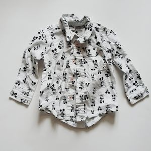 Disney's Mickey Mouse Button Down Shirt